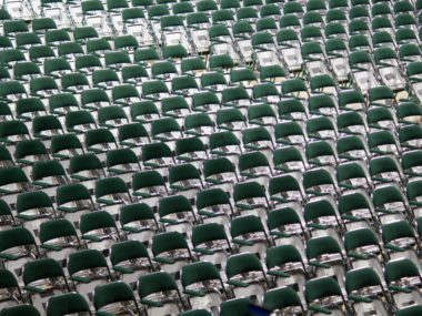 Image of Uniform Chairs In a Row